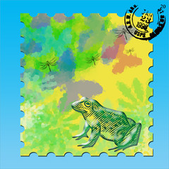 Timbre grenouille