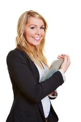 Geschäftsfrau mit Tablet Computer