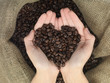 coffe heart shape