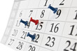 needle calendar