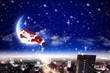 Santa on the moon