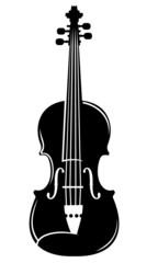 violin vector silhouette