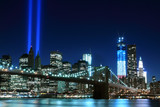 Fototapety Brooklyn Brigde and the Towers of Lights , New York City