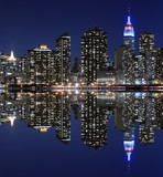 Midtown Manhattan Skyline At Night, New York City - 47821193