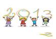 Detaily fotografie bonne année 2013 enfants