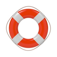 Lifebuoy Isolated on White.
