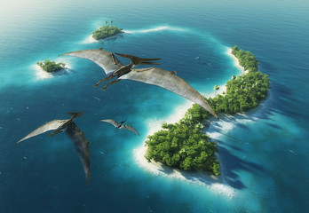 Dinosaurs natural park. Jurassic Period