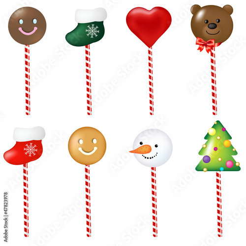 Xmas Color Lollypops Set