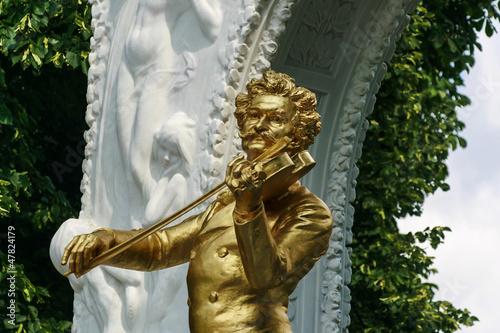 Johann Strauss Statue im Stadtpark