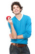 Healthy Guy Holding an Apple