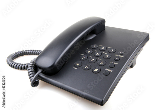 telephone isolated over white background