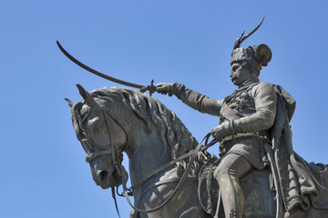 Statue on main square in Zagreb, Croatia