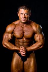 posing man bodybuilder