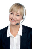 Business executive implementing the product through telecalling poster