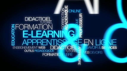 E-learning formation apprentissage en ligne didacticiel video
