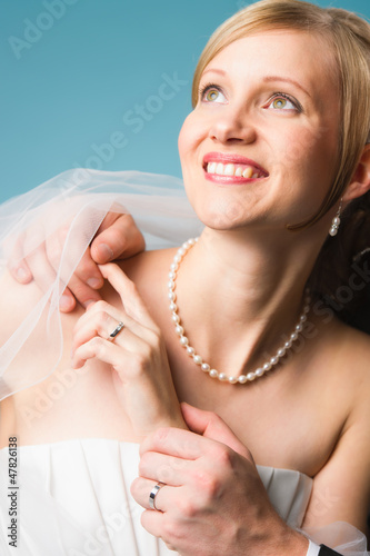 Bride and rings