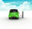 auto elettrica con distributore