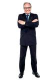 Confident cheerful matured businessperson