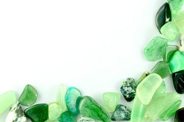 Green stones isolated