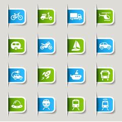 Label - Transportation icons