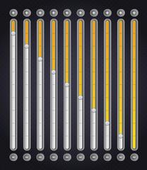 Yellow volume bar . Web Elements