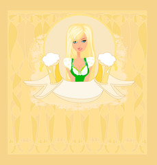 Oktoberfest waitress card