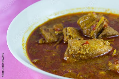 Gang Hang Lay  traditional Burmese pork curry with ginger