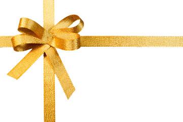 Schleife, gold, freigestellt, #8