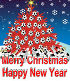 xmas tree red soccer  football