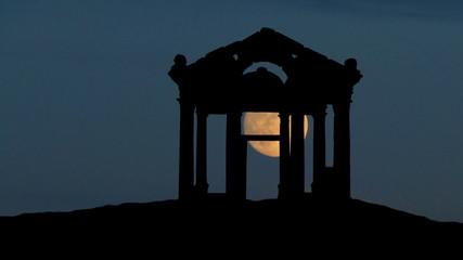 Turkey Aphrodisias moonrise