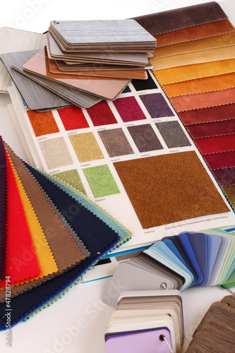 Leinwanddruck Bild Stoffe / Farbfächer