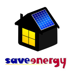 save energy vector illustration
