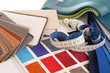 Leinwanddruck Bild - Stoffe / Farbfächer