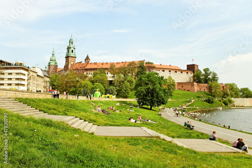 Cracow in a summer.