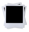 Stack of blank paper photo frames