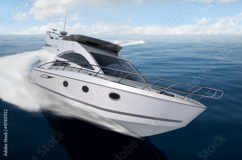 canvas print picture yacht render 6