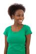 Black lady in green