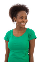Black lady in green