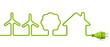 Green power plug - wind energy-tree-house