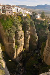Houses on Impressive chasm, Ronda (Spain)
