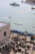 Vue aérienne sur le Palais des Doges, Place Saint-Marc à Venise