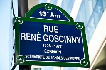 rue René Gosciny à Paris 13ièm