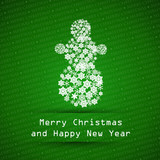 dark green merry christmas typographic text poster