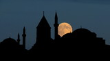Turkey Mevlevi convent and museum moonrise