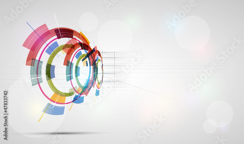 abstract futuristic fade technology business banner background