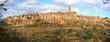 Tuscany, Pitigliano medieval village panorama landscape. Italy