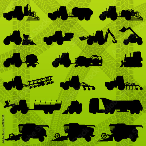 Agriculture industrial farming equipment tractors, trucks, harve