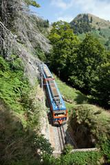 Zahnradbahn auf dem Monte Generoso (Tessin, CH)