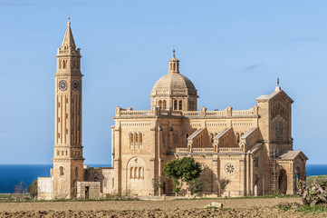 Ta' Pinu church near Gharb in Gozo, Malta