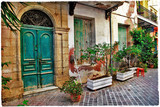 Fototapety Chania,Crete- old charming streets